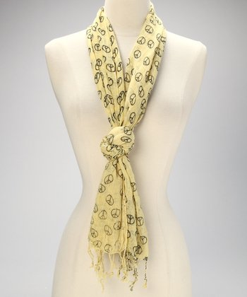 Yellow Peace Scarf