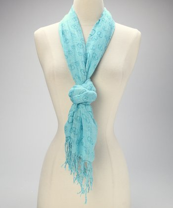 Blue Peace Scarf