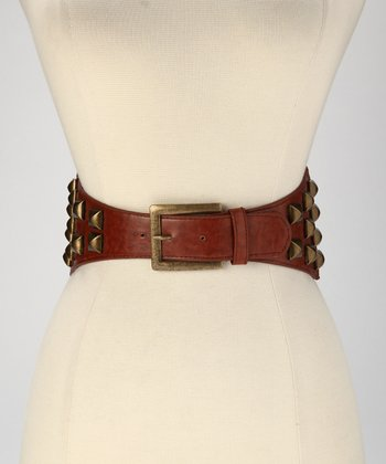 Brown Stud Stretch Belt