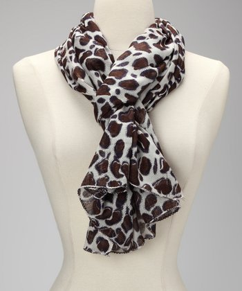 Chocolate Spot Scarf