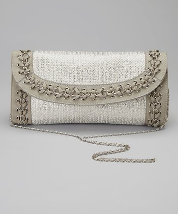 Silver Gray Chain Clutch