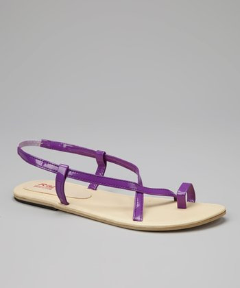 Purple Strappy Sandals