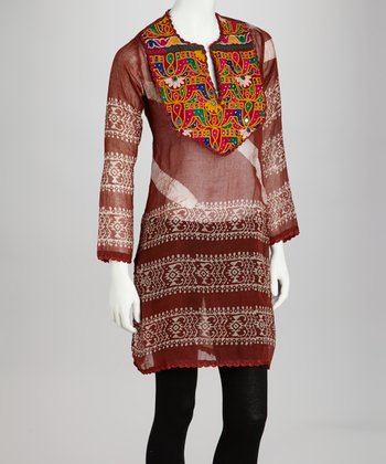 Brown Inca Arushi Tunic