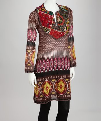 Brown Ikat Arushi Tunic