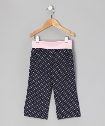 Denim Polka Dot Yoga Capri Pants - Toddler & Girls