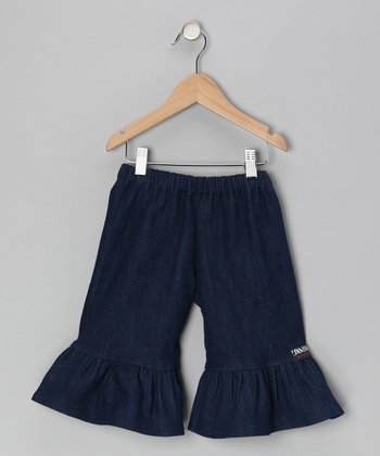 Blue Jean Ruffle Capri Pants - Infant, Toddler & Girls