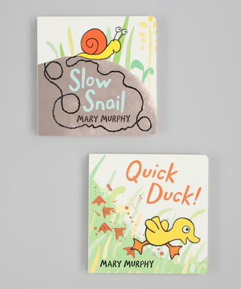 Quick Duck & Slow Snail Board Book Set