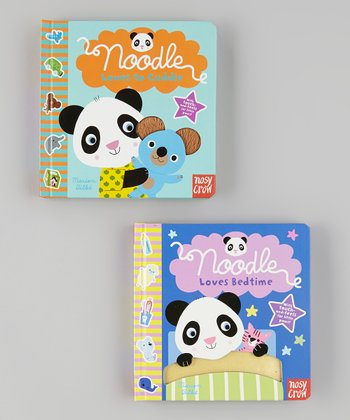 Noodle Loves Bedtime & Noodle Loves to Cuddle Board Book Set