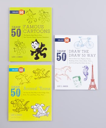 Draw the Draw 50 Way & Cartoons Paperback Set