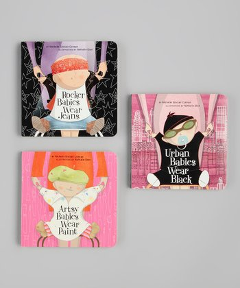 Artsy, Rocker & Urban Babies Board Book Set
