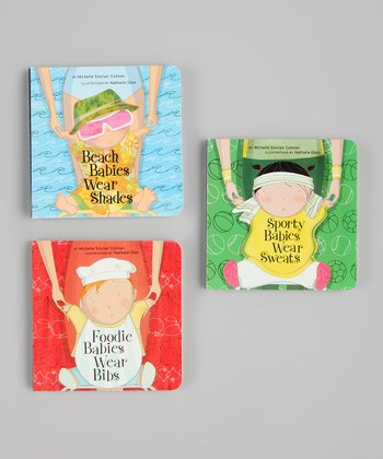 Sporty, Beach & Foodie Babies Board Book Set