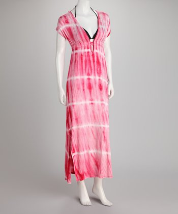 Berry Tie-Dye Maxi Cover-Up