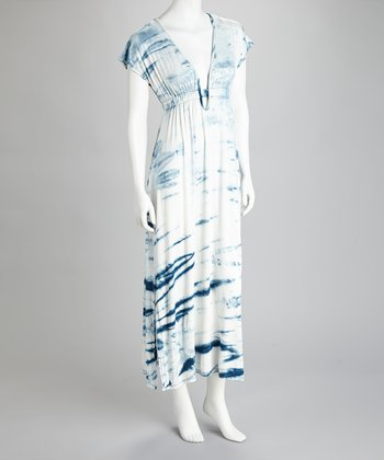 Denim Tie-Dye Maxi Dress