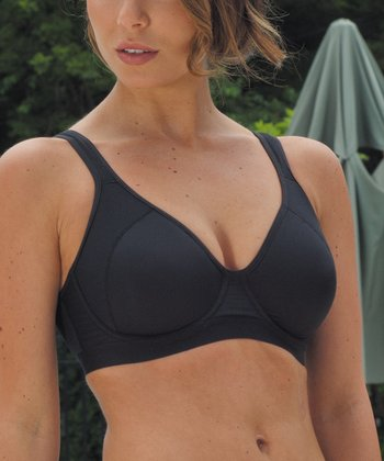 Black Coolmax Underwire Sports Bra