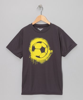 Black Soccer Ball Tee