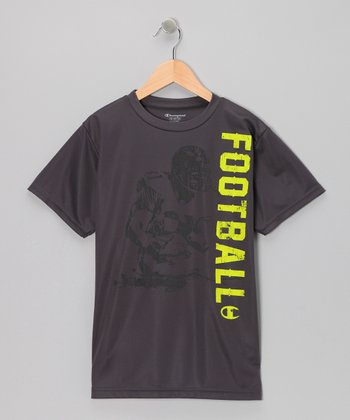 Time Out Gray 'Football' Tee