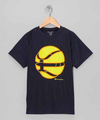 Navy Robo-Basketball Tee