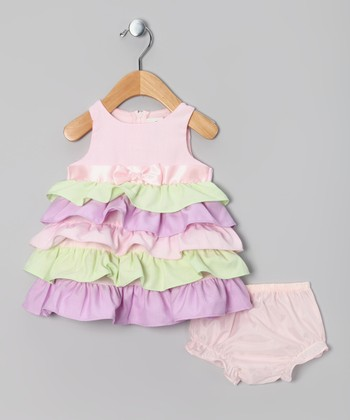 Pink Ruffle Dress - Infant, Toddler & Girls