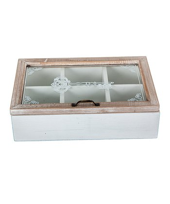 Antique White Key Box