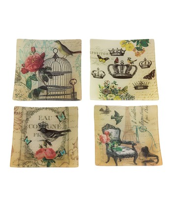 Square Bird Plate Set