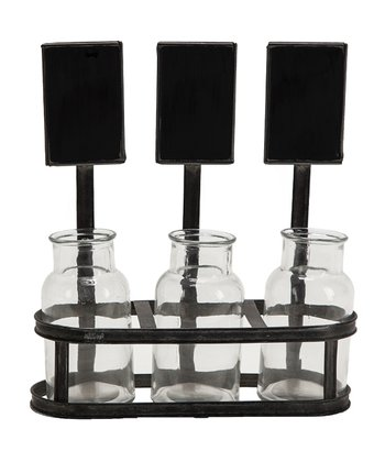 Chalkboard Holder & Bottle Trio Set