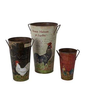 French Rooster Large Bucket Set