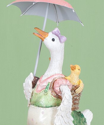 Umbrella Duck Mom Figurine