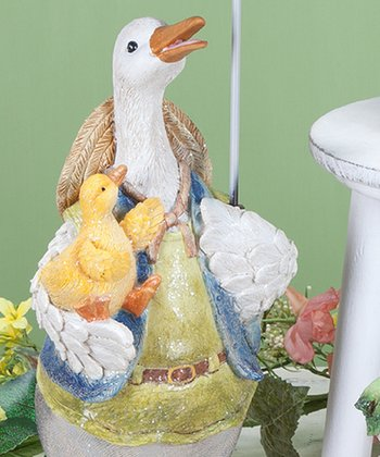 Umbrella Duck Dad Figurine