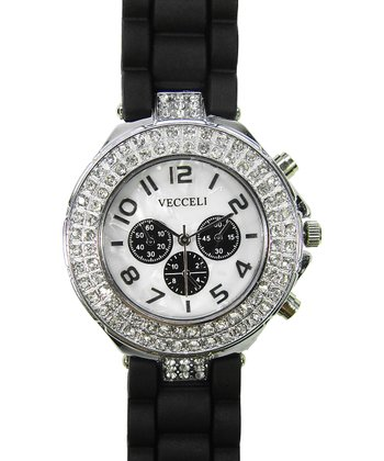 Black Crystal Link Watch