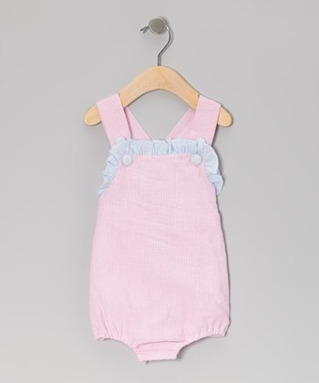 Pink Seersucker Bubble Bodysuit - Infant & Toddler