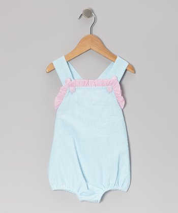Turquoise Seersucker Bubble Bodysuit - Infant & Toddler