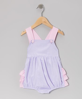Purple Stripe Skirted Bodysuit - Infant & Toddler