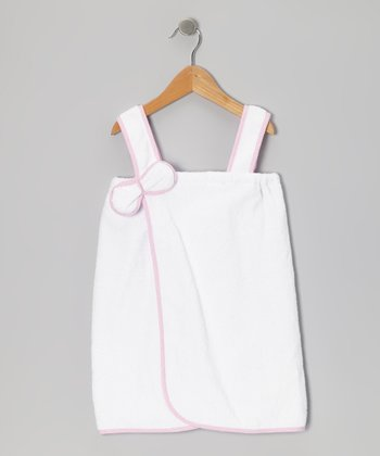 Pink & White Organic Cover-Up - Infant & Girls