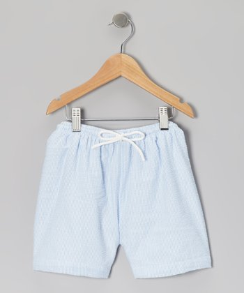 Blue Seersucker Shorts - Infant, Toddler & Kids