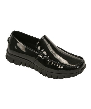 Black Patent Slip-On Moccasin