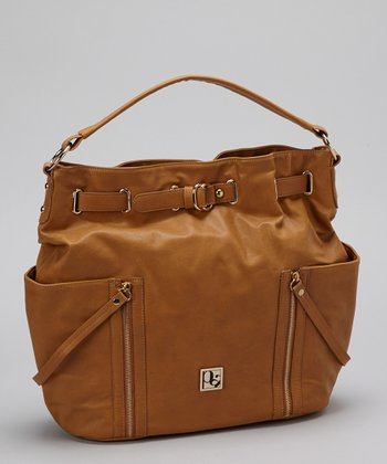 Camel Zip Pocket Satchel