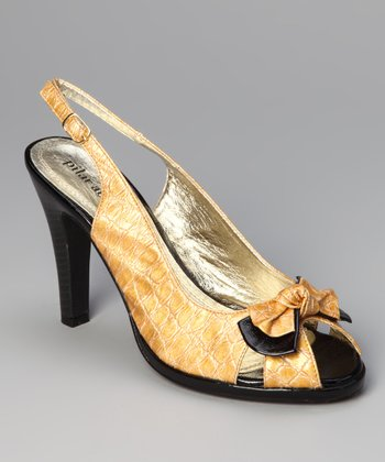 Black Curry Bow Slingback