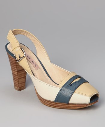 Blue Lake Penny Slingback