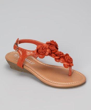 Orange Avia Sandal