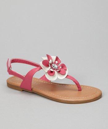 Fuchsia Cutie 2 Flower Sandal