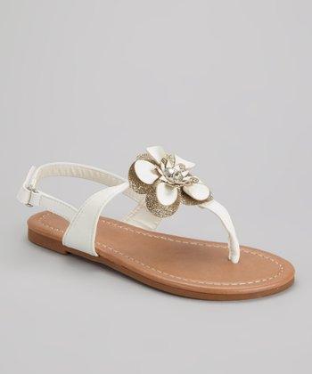 White Cutie 2 Flower Sandal