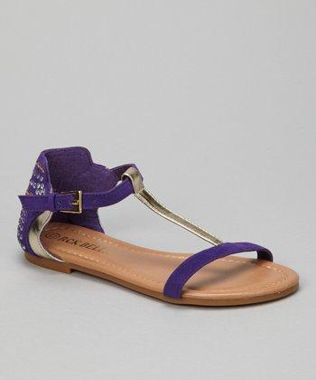 Purple Sami T-Strap Sandal