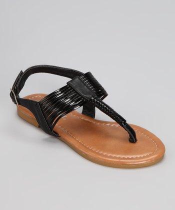 Black Steph Sandal