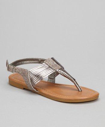 Pink Glitter Steph Sandal