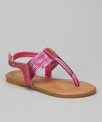 Raspberry Glitter Steph Sandal