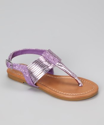 Purple Glitter Steph Sandal