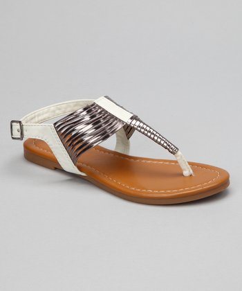 White Steph Sandal