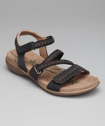 Black Suede Cloverly Sandal
