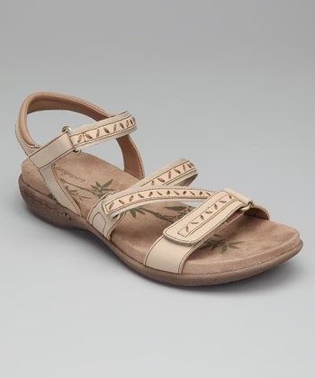 Light Gray Suede Cloverly Sandal