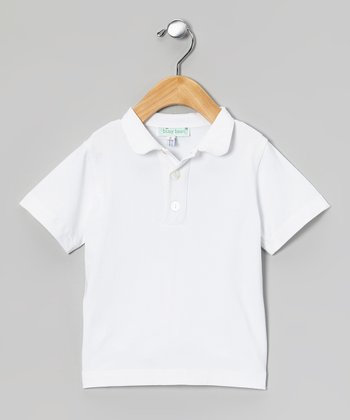 White Peter Pan Collar Polo - Infant & Toddler